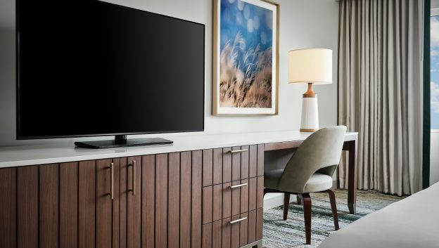 High-Definition 55-inch LCD Television and Desk