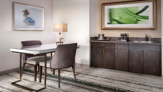 Signia Suite Desk and Wet Bar